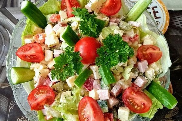 Colorful Cheese – Ham – Salad