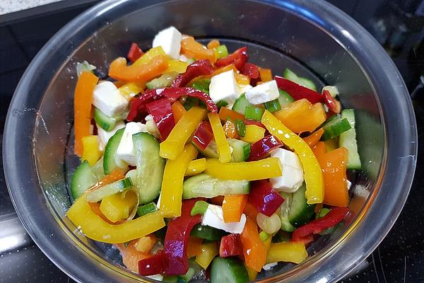 Colorful Paprika – Cheese – Salad
