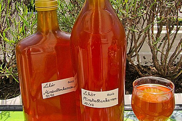 Liqueur Made from Mirabelle Seeds