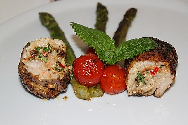 Pollo Fino, Boned Chicken Legs, Filled with Fresh Herbs and Cream Cheese