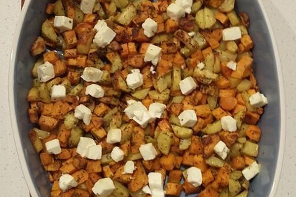 Potato Duo Made from Sweet Potato and Normal Potato