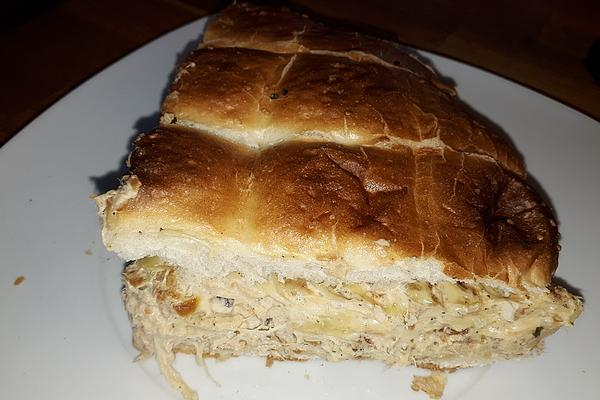 Baguette with Tuna and Herb Cream Cheese Filling