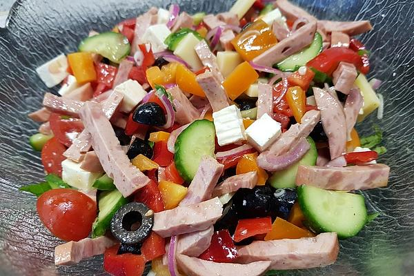 Colorful Party Cheese Salad