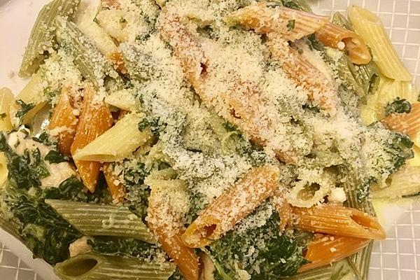 Delicious Pasta with Gorgonzola – Spinach and Chicken Fillet