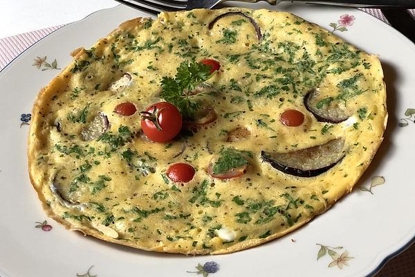 Eggplant Omelette Tuscany – Frittatata Con Le Melanzane