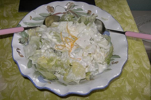 Iceberg Lettuce in Lemon Cream