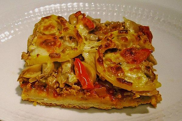 Minced Meat Pizza with Sweet Chili Sauce for Springrolls