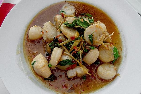 Pad Cha with Various Seafood or Fish