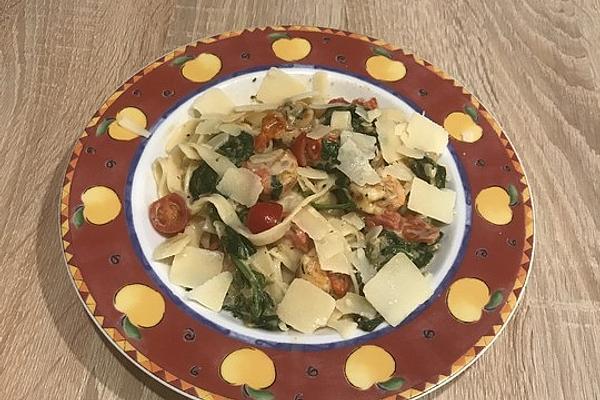 Pasta Scampi E Spinaci