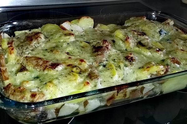 Pork Fillet – Potato – Gratin with Pear