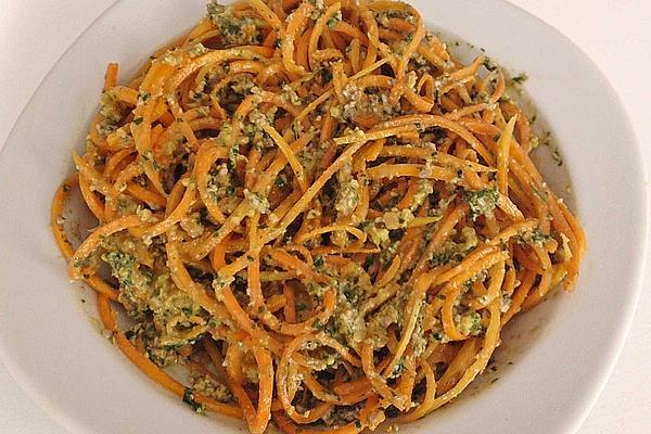 Pumpkin Spaghetti with Pesto Duo