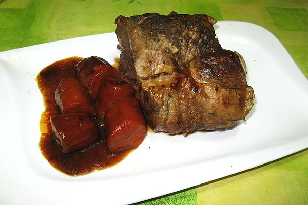 Roast Pork with Onion Sauce