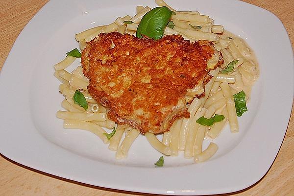 Turkey Piccata with Macaroni in White Tomato Cream