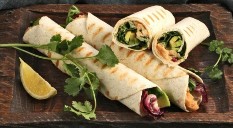 Rolls with Beans, Herbs and Avocado
