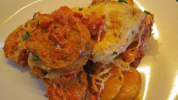 Pork Loin in Cream Sauce with Tomato Paste