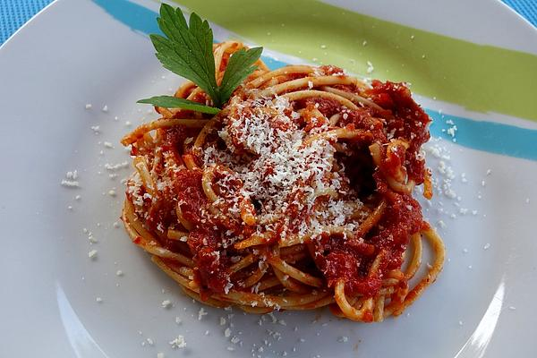 Spaghetti with Tomato Sauce and Parmesan
